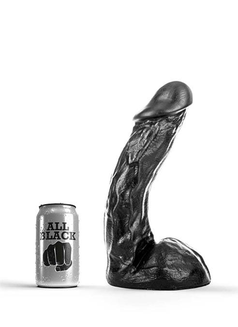 All Black Dildo 275 x 60 mm