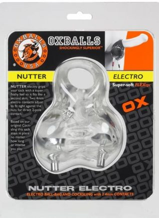 Oxballs Nutter Sacksling 4MM Electro TPR Clear