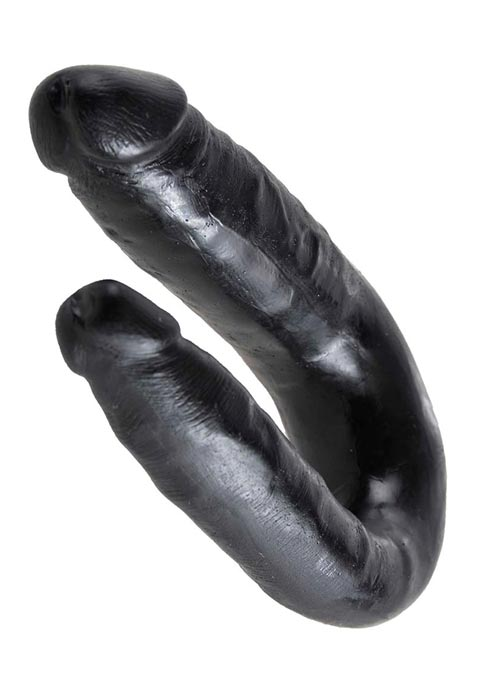 Pipedream King Cock U-shaped Double Trouble Black Small