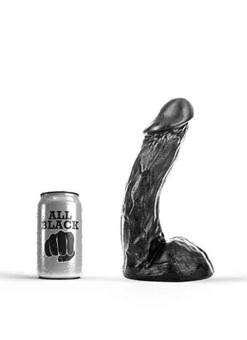 All Black Dildo 230 x 50 mm