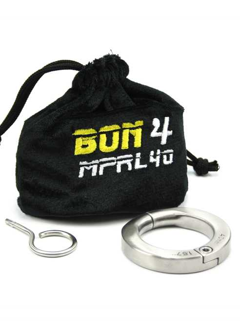 BON4 Lockable Cockring Stainless steel 49 mm