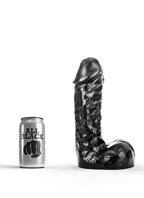 All Black Dildo 245 x 65 mm