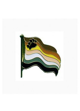 Pride Pin Wavy Bear Pride Flag