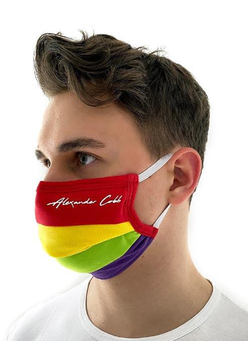 Alexander Cobb Facemask Rainbow