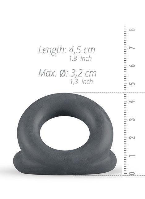 Boners Liquid Silicone Triple Cock Ring Grey
