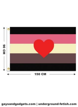 Flag Fat Fetish Pride Printed 90 x 150 cm