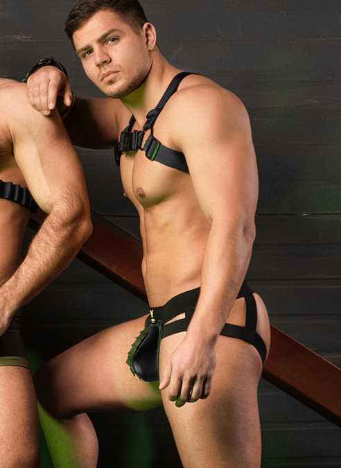 Maskulo Enforce Bulldog Harness Black
