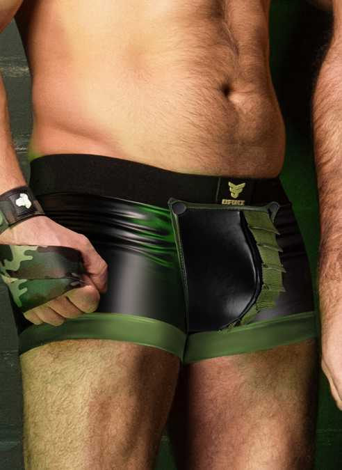 Maskulo Enforce Open Ass Boxer with Strapped Codpiece Small