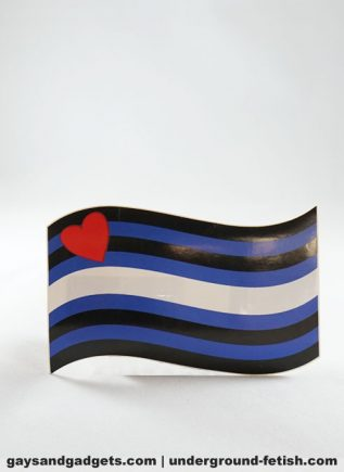 Pride Sticker Leather Pride Waving Flag