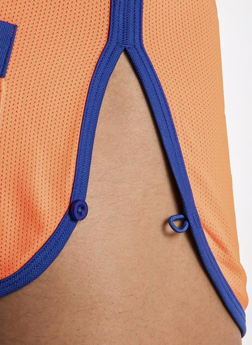 CODE 22 Active Mini Shorts Orange Extra Large
