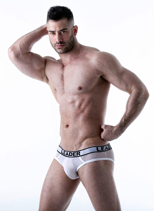 Leader Shock Backless Brief White Extra Large