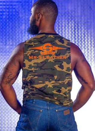 Mr. S Camo Butcher Tank Orange Extra large