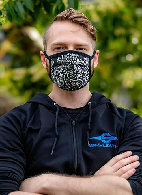 Mr. S Reversible Hanky Facemask Black