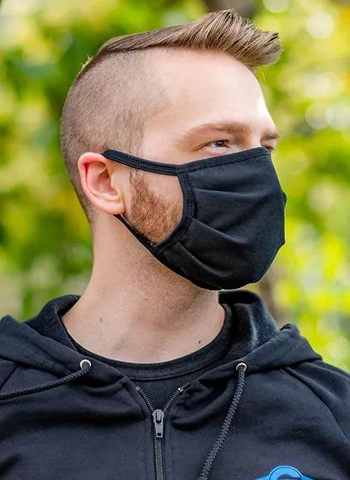 Mr. S Reversible Hanky Facemask Grey