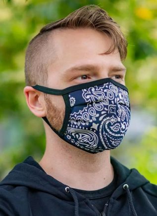 Mr. S Reversible Hanky Facemask Navy