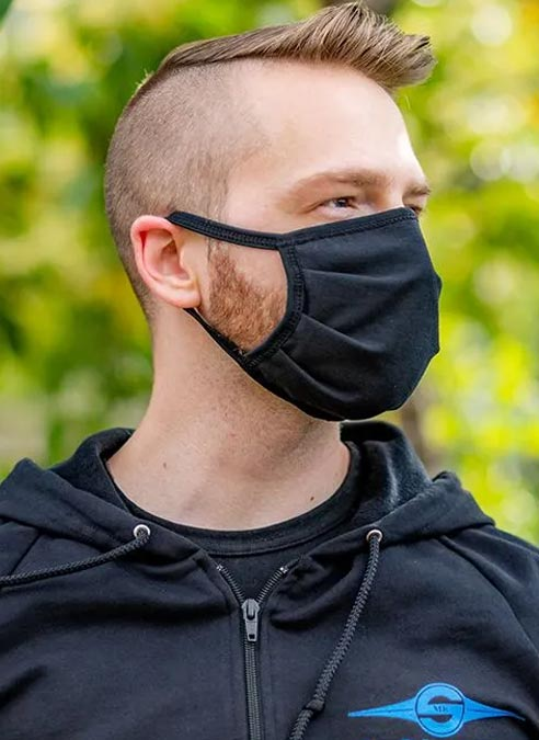 Mr. S Reversible Hanky Facemask Red