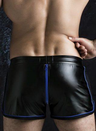 Locker Gear 2 Way Zipper Shorts Blue Extra Large