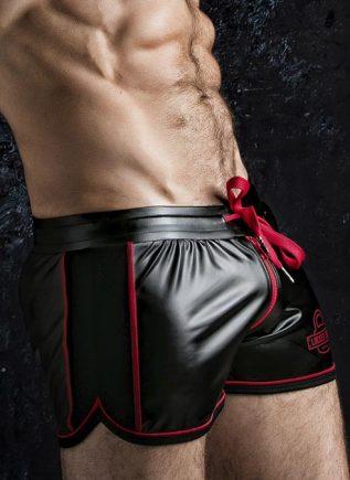 Locker Gear 2 Way Zipper Shorts Red Large