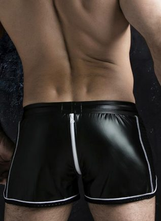 Locker Gear 2 Way Zipper Shorts White Large